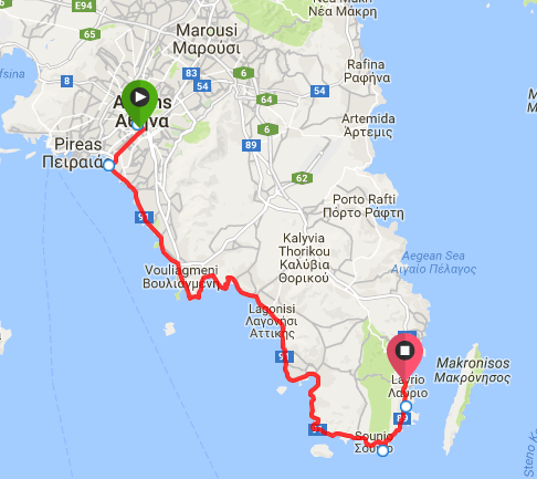 Map Poseidon Long Route