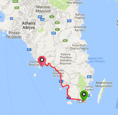 Map Poseidon Short route
